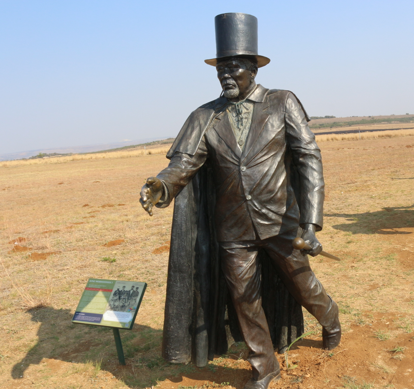 Statue of the Lesotho Founder: King Moshoeshoe